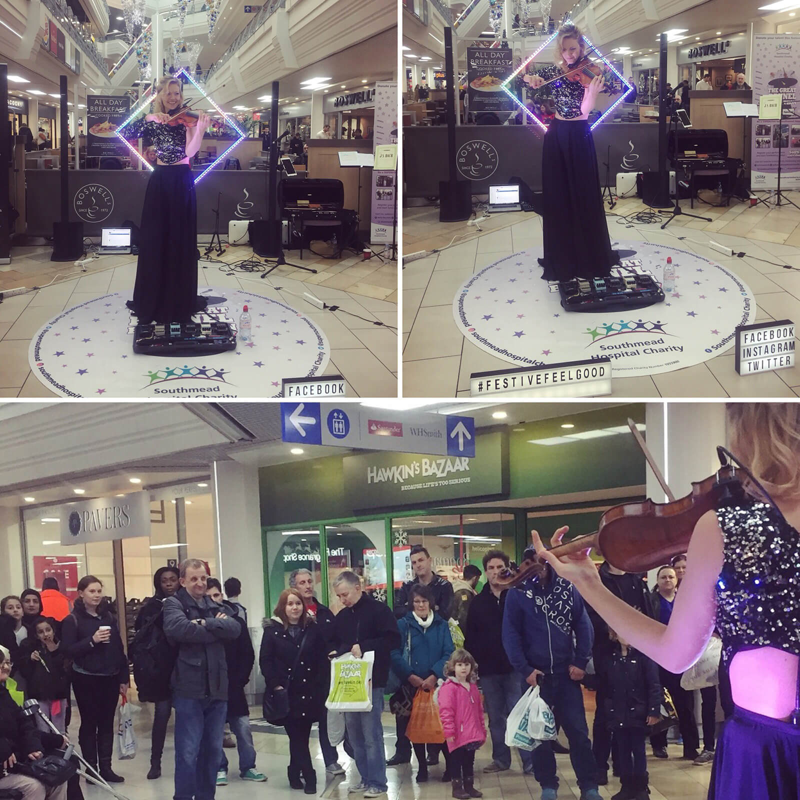 Performance for The Southmead Hospital Charity, The Galleries, Bristol 2017